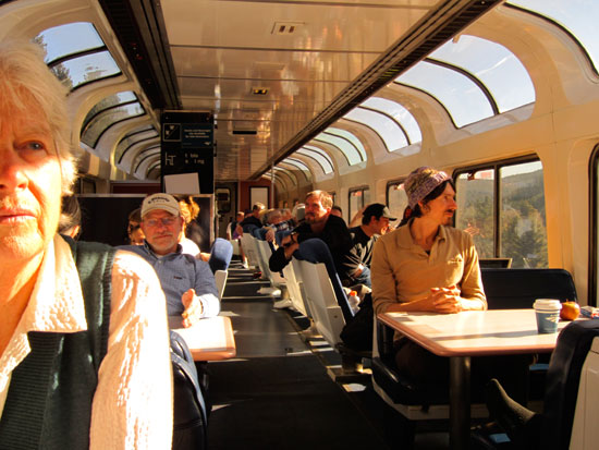 Aboard the California Zephyr (Observation Car)