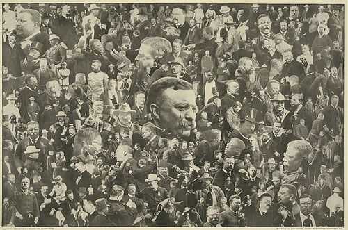 Photomontage of Theodore Roosevelt (Courtesy of Cornell University Library via Flickr Commons)