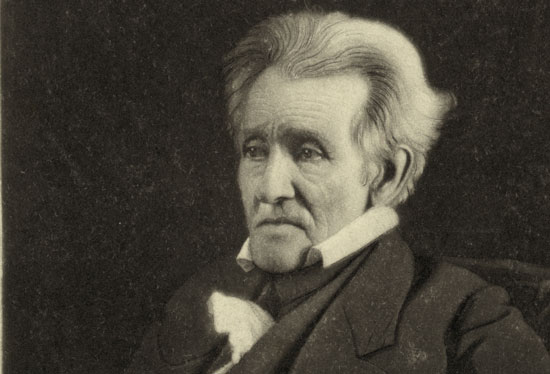 Photograph of President Andrew Jackson in old age