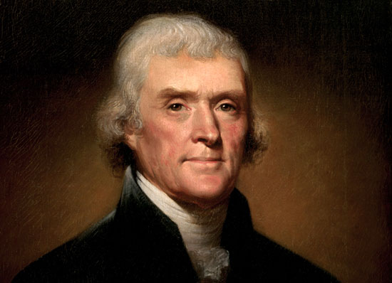 Rembrandt Peale's 1800 portrait of Thomas Jefferson