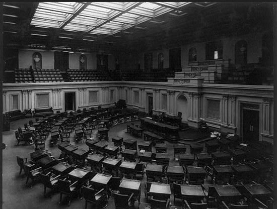 Photograph of the US Senate Chamber circa 1920