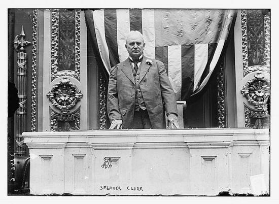 Photograph of House Speaker James Beauchamp Clark in 1911 (Courtesy Library of Congress)