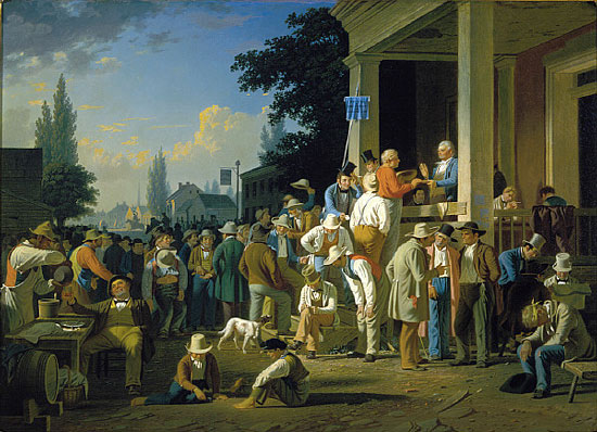 "George Caleb Bingham, ""The County Election,"" St Louis Art Museum (courtesy of Wikimedia Commons)."