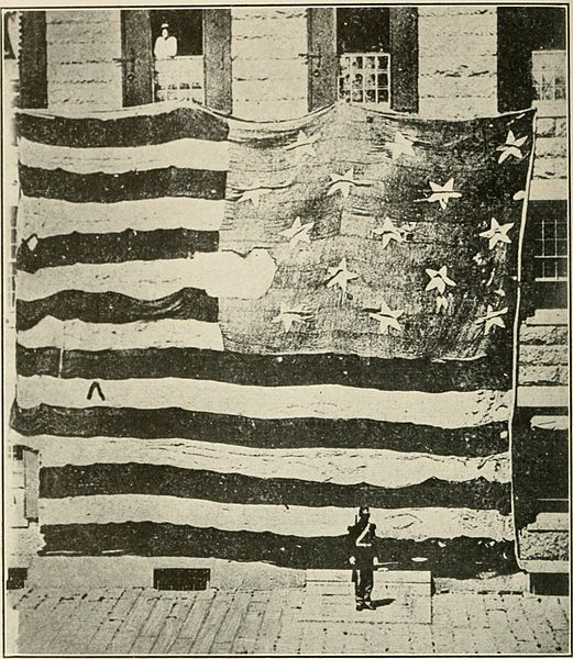 Fort McHenry flag (Courtesy of the Library of Congress)