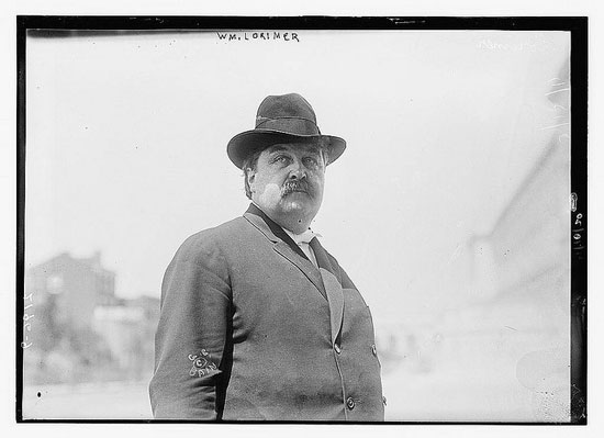 William Lorimer circa 1911 (Courtesy Library of Congress via The Commons on Flickr)