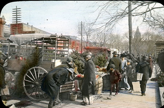 Washington DC market scene by E. B. Thompson (Courtesy DC Library via the Commons on Flickr)