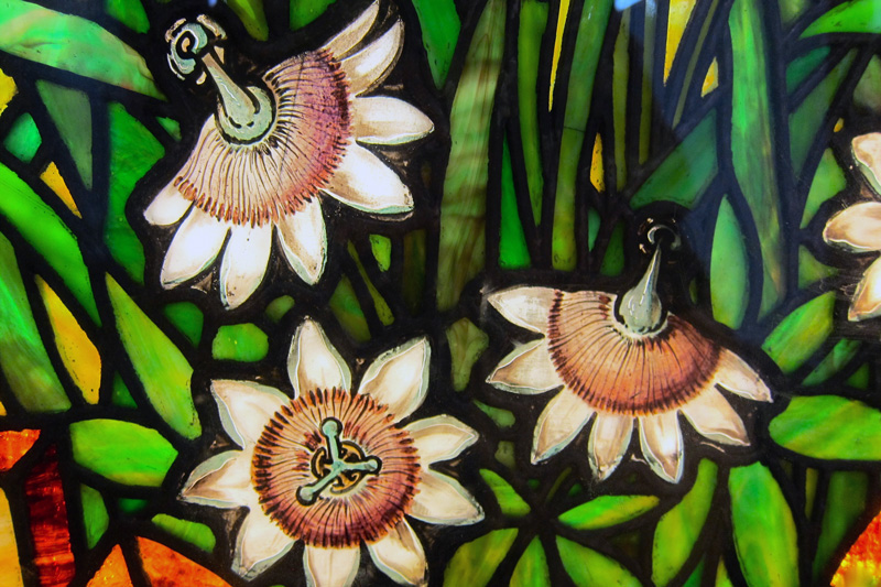 Passion flower detail (Smith Museum of Stained Glass, Chicago), © 2015 Susan Barsy