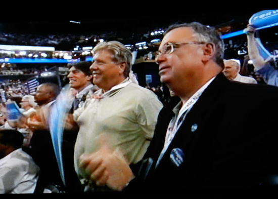 DNC audience (screen shot from PBS coverage)