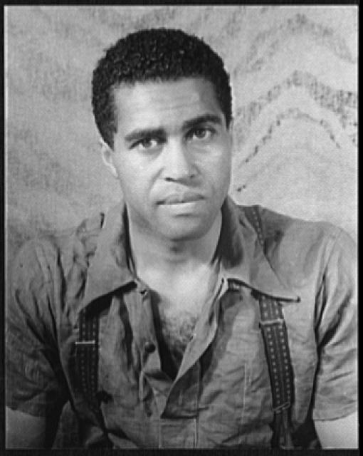 "Carl Van Vechten, Portrait of Earl Jones in Langston Hughes's ""Don't You Want to Be Free?"" (Courtesy of the Library of Congress)."