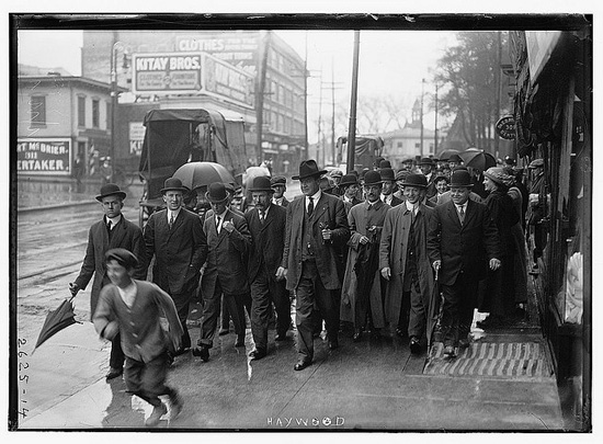 Big Bill Haywood & followers in Paterson, NJ (Courtesy Library of Congress via Flickr Commons)