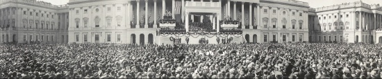 Crowds gathered for the presidential inauguration, 1921 (Courtesy of the Library of Congress)