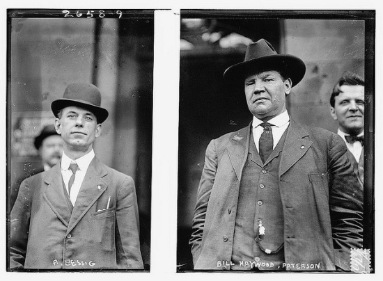 Union leaders Adolf Lessig and Big Bill Haywood (Courtesy Library of Congress via Flickr Commons)