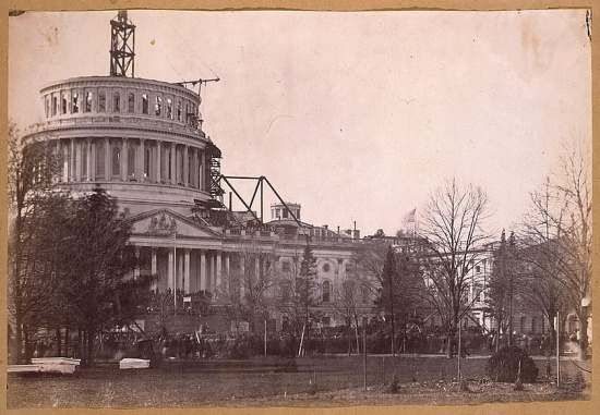Inauguration of Mr. Lincoln (1861), photograph courtesy of the Library of Congress