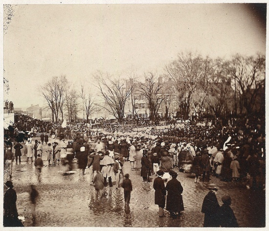 The crowd at Lincoln's Second Inauguration, March 4, 1865 (Courtesy of the Library of Congress)