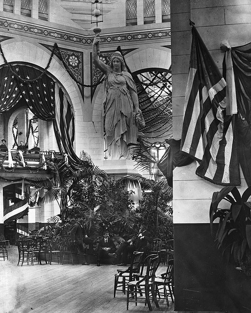 Preparing the US National Museum for Garfield's Inaugural Ball (Courtesy the Smithsonian Institution via the Commons on Flickr)