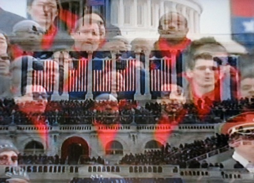 The Brooklyn Tabernacle Choir singing the Battle Hymn of the Republic (Photograph of PBS coverage)