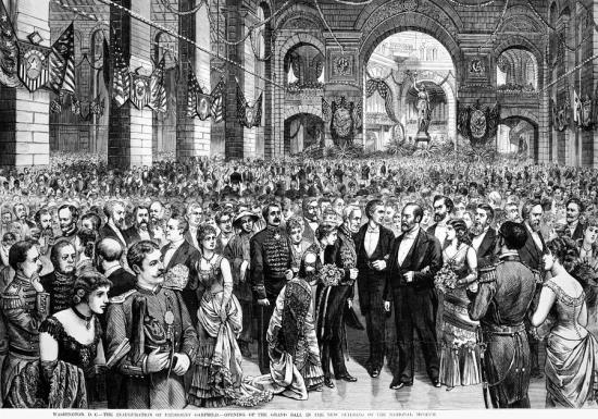 """The Inauguration of President Garfield - The Opening of the Grand Inaugural Ball"" (from Leslie's Illustrated of March 19, 1881)"
