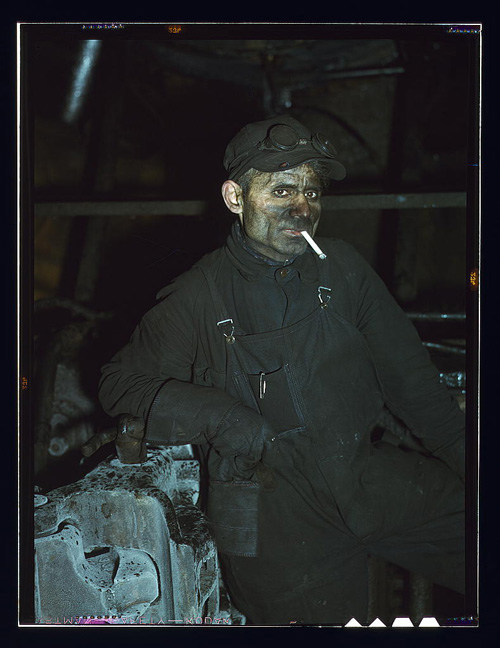 FSA photo of Illinois railroad worker William London, 1942 (Courtesy Library of Congress via the Commons on Flickr)
