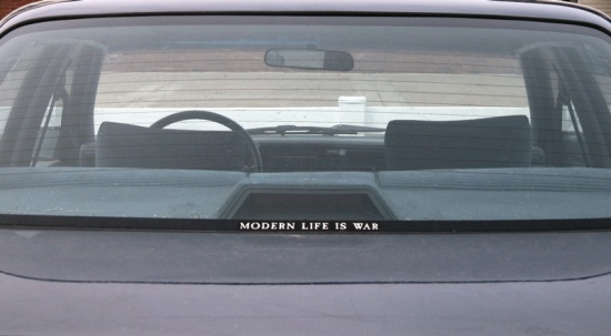 Modern life is war, © 2013 Susan Barsy