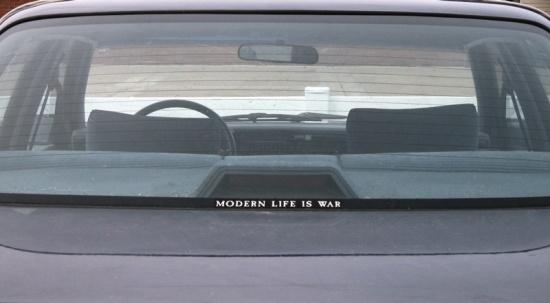 Modern life is war, © 2013 Susan Barsy