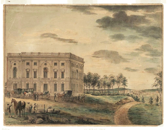 William Russell Birch, A view of the Capitol at Washington (c 1800), courtesy of the Library of Congress