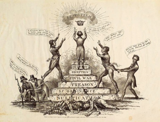 Nullification . . . despotism (1833 lithograph by Endicott & Swett)