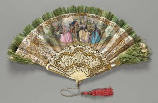 Ladies fan in the collections of the Museum of Fine Arts, Boston.  Click to go to the source.