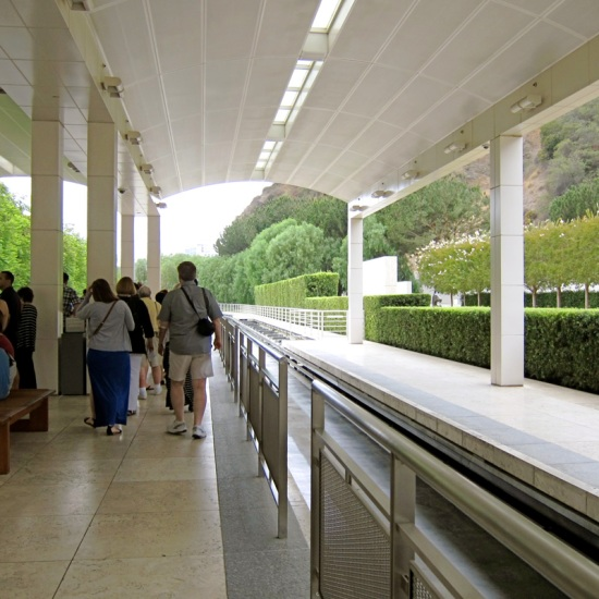 The Getty Center's lower tram station, © 2014 Susan Barsy