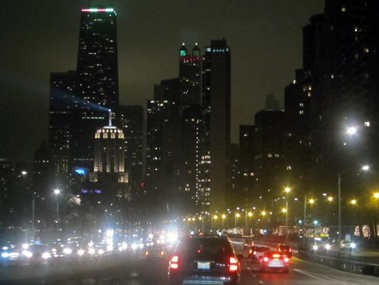 Chicago: The Drive at night, © 2014 Susan Barsy