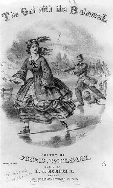 """The Gal with the Balmoral"" (Courtesy of the Library of Congress)"