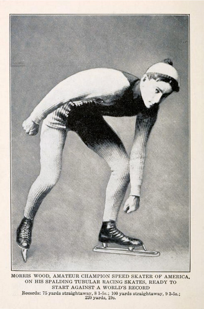 Champion speed skater Morris Wood