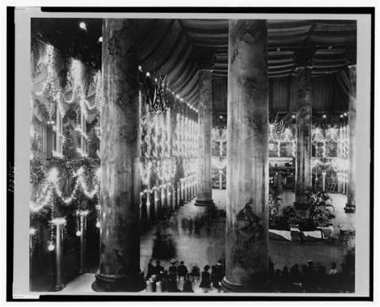 "Frances Benjamin Johnson, ""Inaugural decorations, McKinley Inauguration, Pension Building"" (Courtesy Library of Congress)"