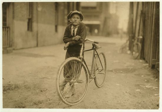 Messenger boy working for Mackay Telegraph Company. Said fifteen years old. Exposed to Red Light dangers. Location: Waco, Texas.