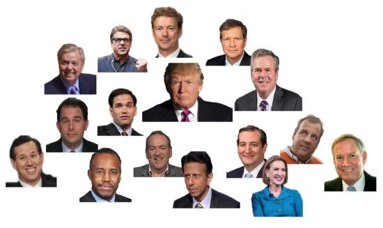 The GOP heap (photomontage), © 2015 Susan Barsy