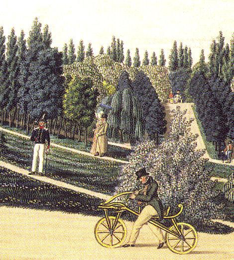 Draisine-in-Mannheim-Garden-1819