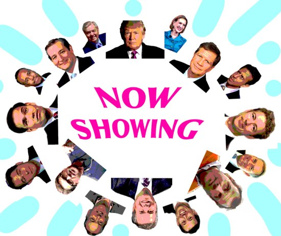Montage of GOP candidates.