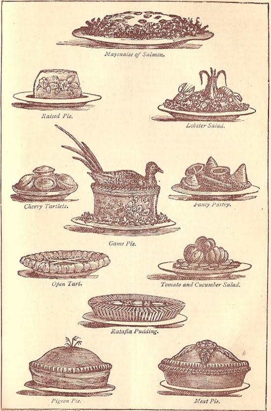 Raised pies (Illustration from Mrs Beeton's)