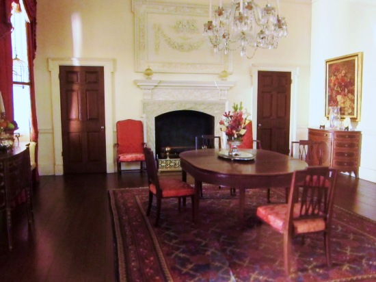 Virginia dining room from the Founding era (Thorne miniature)