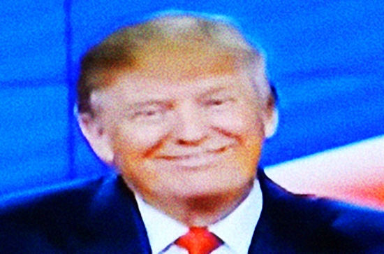 Trump smiling (modified screen-shot), © 2016 Susan Barsy trump-smiling