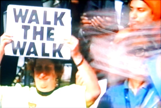 Walk the walk (DNC 2016) screenshot by Susan Barsy