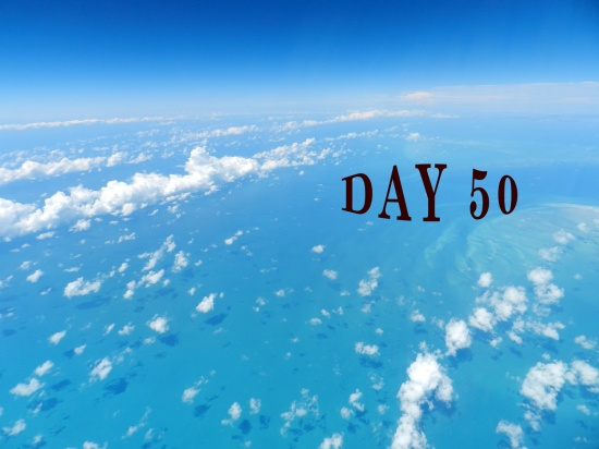 Day 50 beautiful aerial of blue ocean and sky