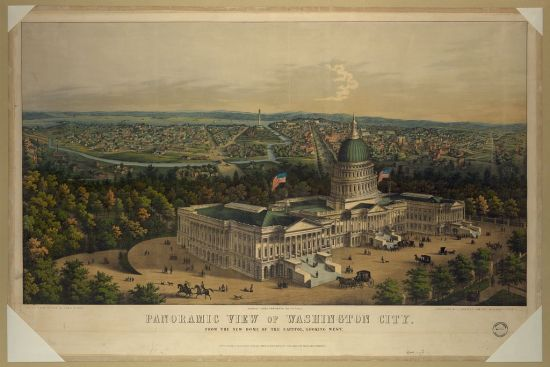 Panoramic view of Washington City (Courtesy Library of Congress)